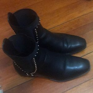 Zara studded booties